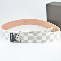 Louis Vuitton LV Fashion Woman Men Buckle Belt Leather Belt