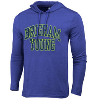 BYU Cougars Neon Arch Fullback Hooded T-Shirt – Blue