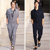 2019 Men New Spring Plus Size Jumpsuit Overalls Runway Fashion Slim Jumpsuits Siamese Custom Stage Singer Costumes S-6XL