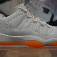"【FREE SHIPPING】Air Jordan Retro 11 Low ""Citrus"" Sneaker STYLE CODE: 580521 139"