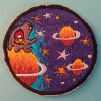 Funky Alien Patch! Unusual and Weird Vintage Item