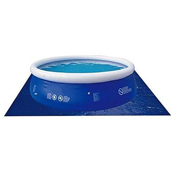 By PoolCentral 18.5' Square Blue Swimming Pool Ground Cloth