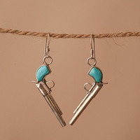 Sterling Silver Pistol Earrings