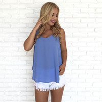 Marine Bay Blouse In Blue