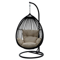 Bay Isle Home Duncombe Egg-Shaped Outdoor Swing Chair with Stand & Reviews | Wayfair