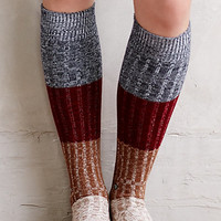 Colorblock Boot Socks