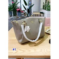 Tiktoki1 Coach's fashionable new single-shoulder bag in pure color is a hot seller of casual ladies' shopping bag #1