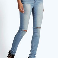 Sophie High Waisted Split Knee Skinny Jeans