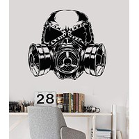 Vinyl Wall Decal Gas Mask Gift For Boy Teen Room Decoration Stickers Unique Gift (ig3588)