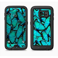 The Turquoise Butterfly Bundle Full Body Samsung Galaxy S6 LifeProof Fre Case Skin Kit