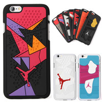 For Iphone 6 6s Phone Case 4.7 Inches 3D Jordan Capa Sport Basketball Plastic+Silicone Phone Back Cover Case for iphone 6