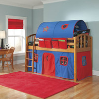 Alaterre Collection Mansfield Junior Loft Bed with Curtains—Buy Now!