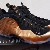 2017 Nike Air Foamposite One Copper Black Metallic 314996-007 Mens Shoes Size 11