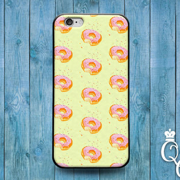 iPhone 4 4s 5 5s 5c 6 6s plus iPod Touch 4th 5th 6th Generation Cute Pink Doughnut Donut Pattern Food Phone Fun Cover Funny Cool Custom Case