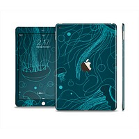 The Dark Vector Teal Jelly Fish Skin Set for the Apple iPad Pro