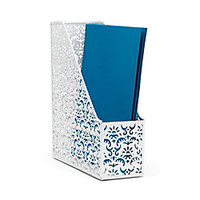 Realspace Brocade Magazine File White by Office Depot