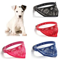 Home Wider Hot Selling New Adjustable Pet Dog Cat Puppies Collars Scarf Neckerchief Necklace Triangle Free Shipping Dec20
