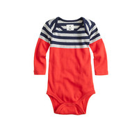 crewcuts Baby Long-Sleeve One-Piece In Tipped Stripe