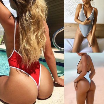 thong  One Piece Swimsuit Bikini