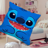 Stitch Lilo And Stitch for square Pillow Case Custom Zippered Pillow Case one side and two side
