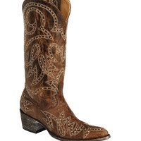 Old Gringo Lauren Gold Studded Cowgirl Boots - Pointed Toe - Sheplers