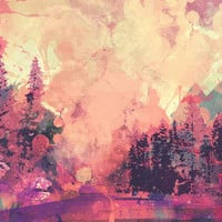 colorful forest Art Print by Nechifor Ionut