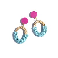 Gabrielle Pink/Turquoise Earrings
