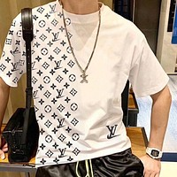 LV x Nike simple black and white printed round neck half-sleeved T-shirt