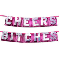 CHEERS BITCHES PARTY BANNER