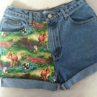 Bambi Shorts by VintageAndUrbanSouls on Etsy