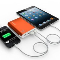 Jackery Giant+ Premium 12,000 mAh Dual USB Portable Battery Charger & External Battery Pack with Panasonic Battery Cells and Aluminum Shell for iPhone 7, 7 Plus, Galaxy & Other Smart Devices (Orange)