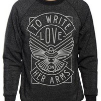 To Write Love On Her Arms Store - DOVE Unisex Heather Black Sweatshirt