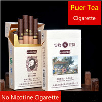 2016 New Brand Chinese Tea Natural Puer Tea Smoke Cigarette Tea Weight Loss No Nicotine Slimming Health Care Green Food Gift