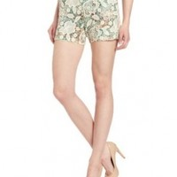 Anna Sui Women's Flilgree Print Crinkle Chiffon And Lace Short