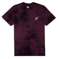 HUF - CRYSTAL WASH SMALL SCRIPT TEE FALL14 // PURPLE
