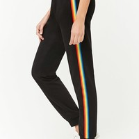 Rainbow-Stripe Joggers