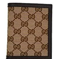 Men's Gucci Signature Canvas Leather Bi-fold Logo Wallet
