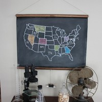 Chalkboard United States Map by shopdirtsa on Etsy