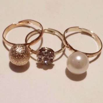 Fancy Orb Ring Trio