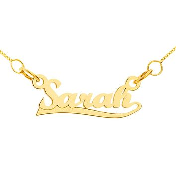 NAME NECKLACE WITH SWIRL - GOLD