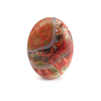 Red Fire Agate Cabochon, Small Oval Cab For Ring Setting 20 x 15 CB68A
