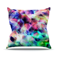 """Gabriela Fuente """"Party"""" Pastel Abstract Outdoor Throw Pillow"""