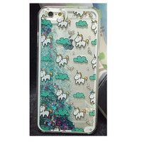 Magical Unicorns With Cascading Liquid Glitter Case for iPhone 6 6Plus 5S