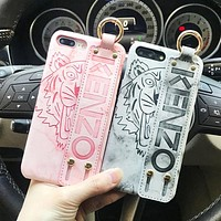 Kenzo Fashion New Letter Tiger Print Women Men Protective Cover Phone Case