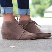 Campus Hidden Wedge Bootie {Taupe}