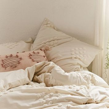 Tufted Geo Duvet Cover   Urban Outfitters