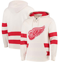 Men's Detroit Red Wings CCM Cream Jersey Pullover Hoodie