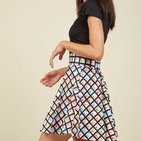 Playful Feeling Skater Skirt in Elements | Mod Retro Vintage Skirts | ModCloth.com