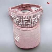 Fendi New fashion more letter hollow cap hat women 2#