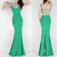 Sexy Mermaid Prom Wedding Cocktail Evening Formal Gown Long Bridesmaid Dress